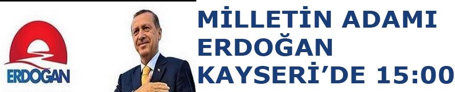 Cumhurbaşkanı adayı ve Başbakan Recep Tayyip Erdoğan, 8 Ağustos'ta Kayseri'de