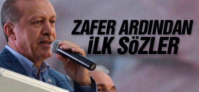 Cumhurbaşkanı Erdoğan'dan teşekkür konuşması-video