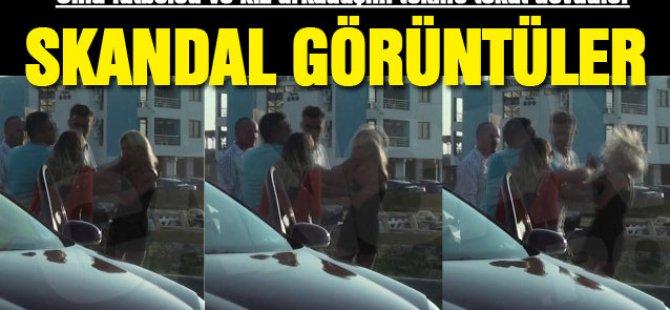 Ünlü futbolcu ve sevgilisini tekme tokat dövdüler