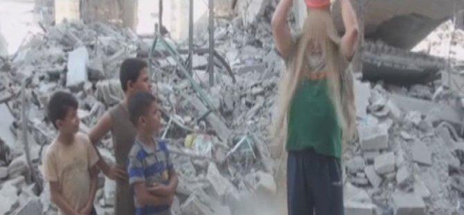 Gazze İçin Bir Kova kum kampanyası Başlattılar