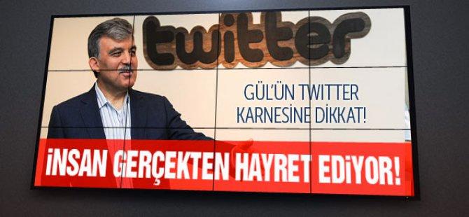 Gül'ün Twitter karnesine bakın!