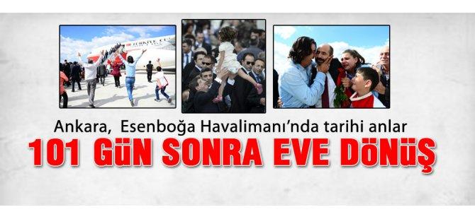 Kurtarılan Konsolosluk çalışanları Ankara'ya Getirildi İzle