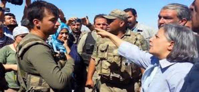 Gülten Kışanak asker ile tartıştı-video