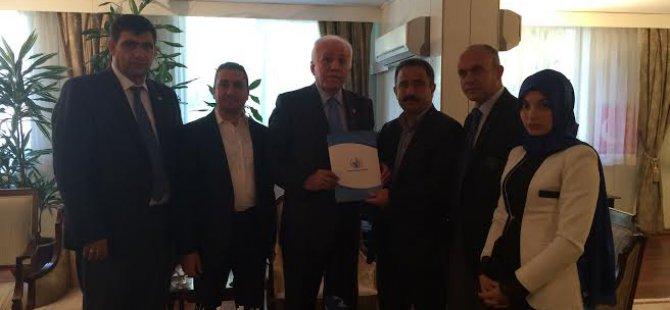 Kamalak, Anadolu Yayın Platformu Başkanı  Sinan Burhan'ı Kabul etti