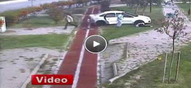 Ankara Sincan'da korkunç kaza saniye saniye kamerada