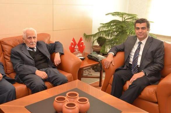 Vali Düzgün, Yazar Bahattin Karakoç'u misafir etti