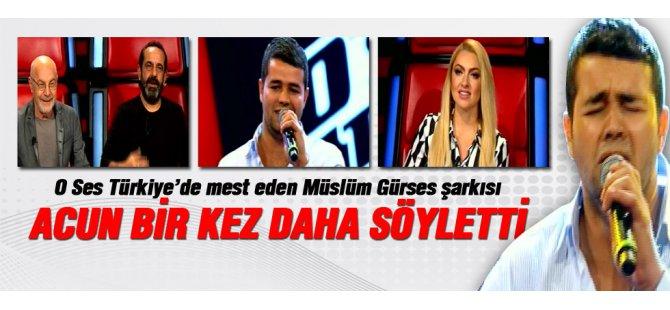 O Ses Türkiye'de Müslüm Gürses Şarkısıyla mest etti-Video