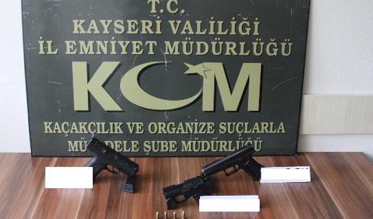 KAYSERİ'DE BÜYÜK SİLAH OPERASYONU