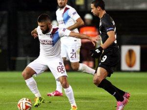 Trabzonspor Lokeren ile 1-1 berabere kaldı