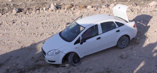 İncesu'da Şarampole devrilen otomobil 5 yaralı