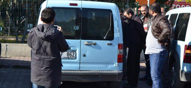 KAYSERİ'DE SİVİL POLİSLERE  SALDIRI