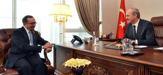 Kurtulmuş, ABD'nin Ankara Büyükelçisi John Bass'ı kabul etti