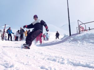 Erciyes Kayak Merkezi vatandaşların akınına uğradı