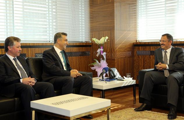 Tuğgeneral Cemal Akyıldız da Başkan Özhaseki'yi ziyaret etti