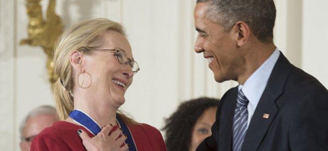 Obama'dan Meryl Streep'e İlan-ı Aşk