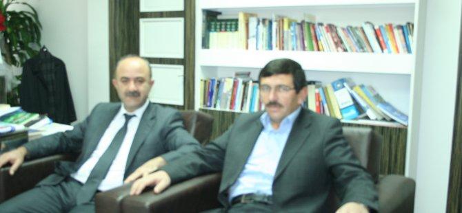 Bünyan Ziraat Odası Başkan Adayı Özsolak Başkan Gülcüoğlunu ziyaret etti