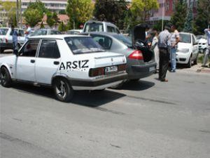 KAYSERİ'DE AŞIRI SICAK TRAFİK KAZASINA YOL AÇTI