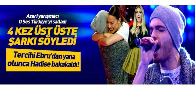 Azeri yarışmacı Elnur Hüseynov O Ses Türkiye'yi salladı-Video