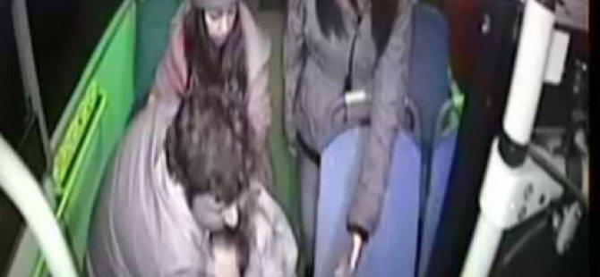 Liseli bir kız otobüste alkol komasına girdi-VİDEO
