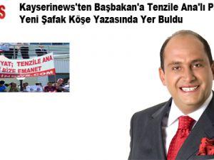 KAYSERİNEWS.COM'UN PANKARTI ERKAN TAN'IN KÖŞE YAZISINDA