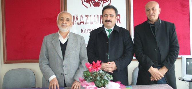 ANADOLU YAYIN PLATFORMU BAŞKANI BURHAN'DAN MAZLUMDER KAYSERİ ŞUBESİ'NE ZİYARET