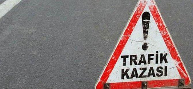 KAYSERİ'DE TRAFİK KAZASI 2 KİŞİ ÖLDÜ 13 KİŞİ YARALANDI