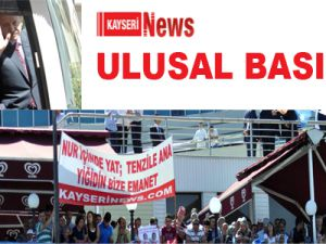 KAYSERİNEWS.COM'UN MİTİNG PANKARTI ULUSAL BASINDA
