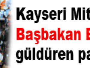 Kayseri Mitinginde Başbakan Erdoğan'ı güldüren pankart