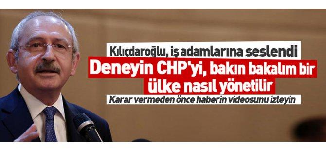 Deneyin CHP'yi Ülke Nasıl Yönetilir