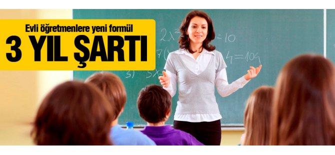Evli Öğretmenlere Yeni formül