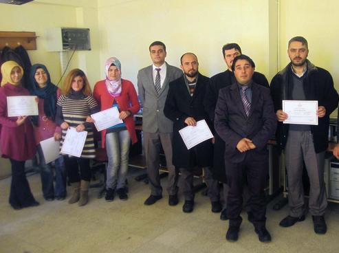 PINARBAŞI'DA 16 KURSİYER SERTİFİKALARINI ALDI