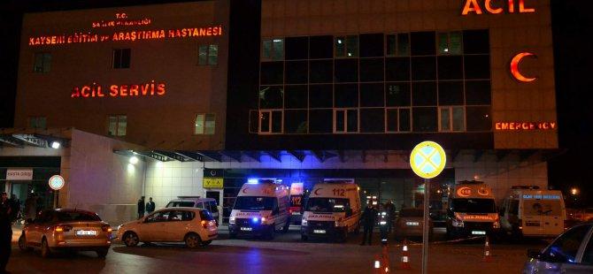 Kayseri'de silahla yaralanan genç tedavi altına alındı