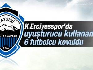Erciyesspor'da uyuşturucu kullanan 6 futbolcu kovuldu