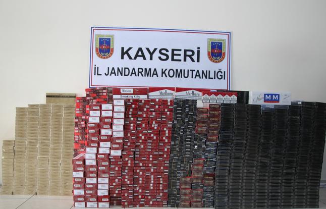 KAYSERİ'DE KAÇAK SİGARA VURGUNU