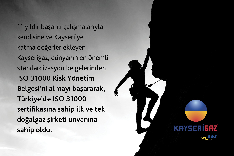 SEKTÖRÜN İLK VE TEK BELGESİ KAYSERİGAZ'DA