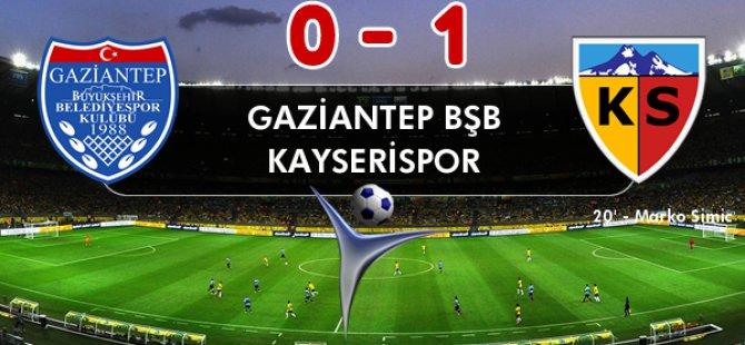 KAYSERİSPOR 3 PUANLA DÖNDÜ