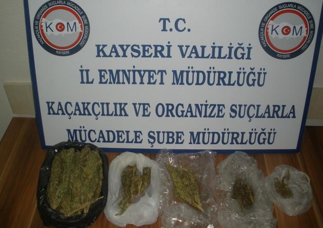 KAYSERİ'DE UYUŞTURUCU TACİRİ TUTUKLANDI