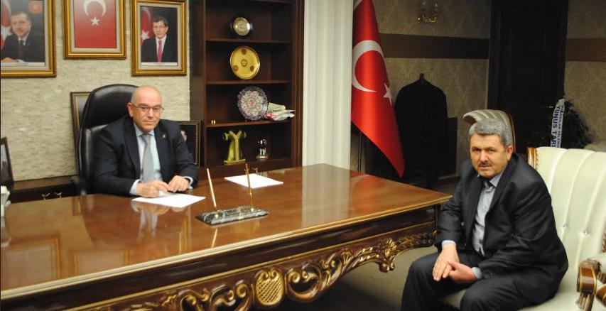 MUHTAR YAŞMAN'DAN AK PARTİ İL BAŞKANI ÖZDEN'E ZİYARET