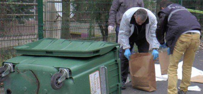 Eşini parçalara ayırarak çöp konteynırına attı