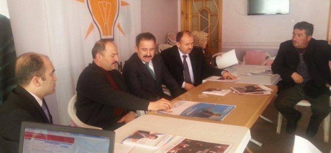 Ak Parti Kayseri Milletvekili A. Adayı Sinan Burhan Felahiye'yi ziyaret etti