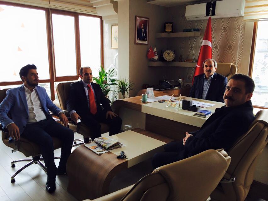 AK PARTİ KAYSERİ MV. A. ADAYI SİNAN BURHAN'DAN MEMUR SEN'E ZİYARET