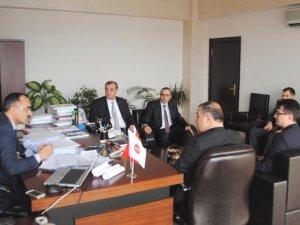 Melikgazi İlçe Başkanı Kadıoğlu Vergi Dairesi Başkanı Özkök'ü ziyaret etti