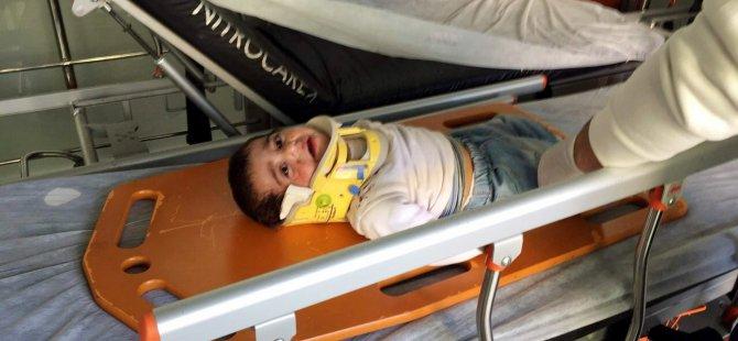 Kayseri'de Trafik Kazası 4'ü çocuk 7 yaralı