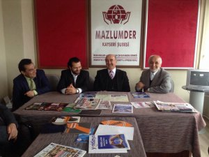 YILDIRIM MAZLUM-DER'İ ZİYARET ETTİ