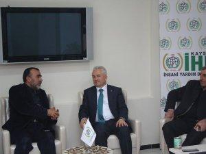 AK PARTİ KAYSERİ MV. A.ADAYI ÖZSOY İHH DERNEĞİ'Nİ ZIYARET ETTİ