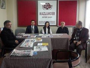 AK Parti Kayseri Milletvekili Aday Adayı Yörük Öztürk Mazlumder'i Ziyaret Etti