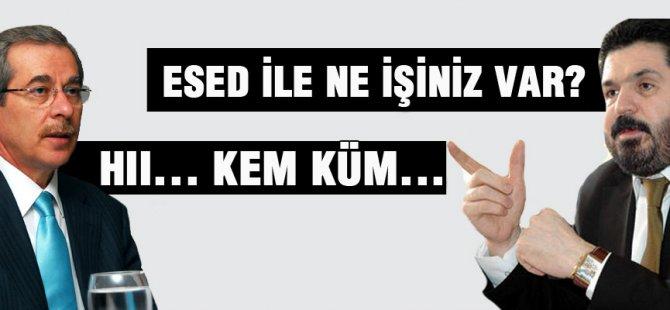 Savcı Sayan Abdüllatif Şener'e:  Saydırdı Esed ile ne işiniz var? Video