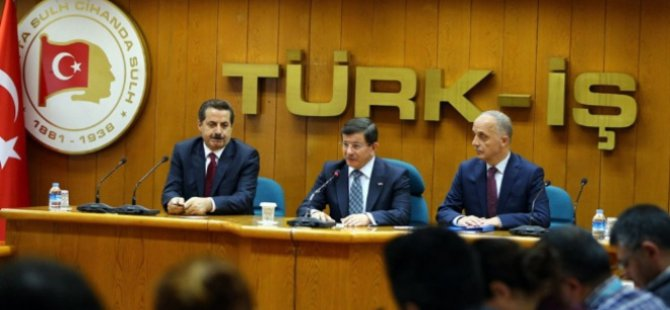 Başbakan Davutoğlu'ndan taşeron işçilere müjde