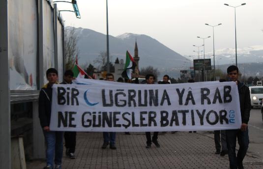 Kayseri'de ''Ümmet Yürüyüşü'' Gerçekleştirdi