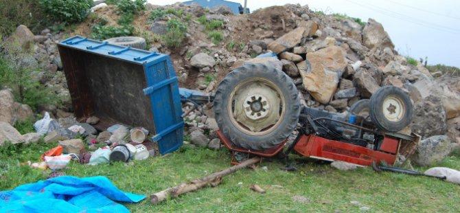 Traktör devrildi 2 ölü, 15 yaralı